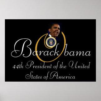 Presidente de Barack Obama 44 o 52 x35 conmemora Poster