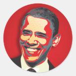 Presidente de Barack Obama 44.o Etiquetas Redondas