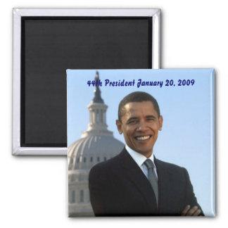 presidente de Barack Obama 44.o Imán Cuadrado