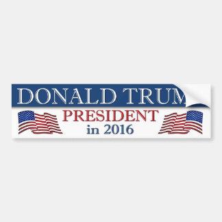 Presidente de Donald Trump en 2016 patriótico Pegatina Para Auto