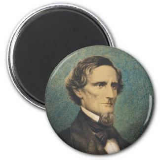Presidente de estados confederado Jefferson Davis Imán Redondo 5 Cm
