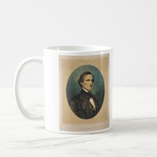 Presidente de estados confederado Jefferson Davis Taza