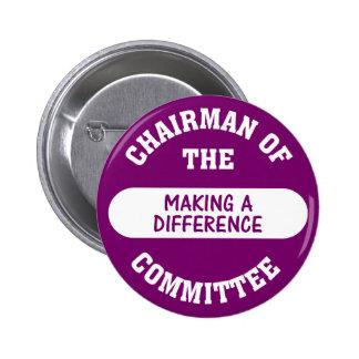 Presidente de hacer a un comité de la diferencia pin