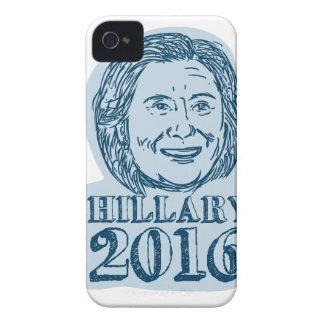 Presidente de Hillary Clinton dibujo 2016 Case-Mate iPhone 4 Cárcasas