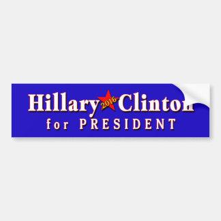 Presidente de Hillary Clinton en 2016 Pegatina Para Coche