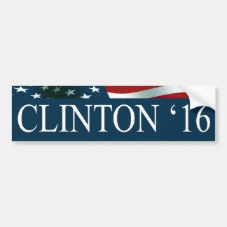 Presidente de Hillary Clinton en 2016 Pegatina Para Auto