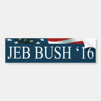 Presidente de Jeb Bush en 2016 Pegatina Para Auto