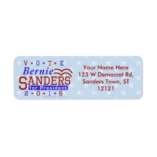 Presidente de las chorreadoras de Bernie elección Etiqueta De Remitente