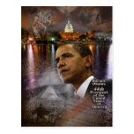 Presidente de los Estados Unidos de Barack Obama 4 Tarjetas Postales