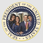 Presidente de los Estados Unidos de Barack Obama Etiquetas Redondas