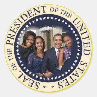 Presidente de los Estados Unidos de Barack Obama Pegatina Redonda