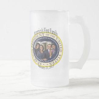 Presidente de los Estados Unidos de Barack Obama Taza De Cristal