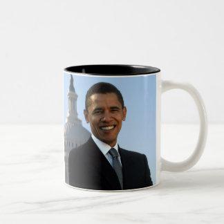 Presidente de los Estados Unidos de Barack Obama Taza De Dos Tonos