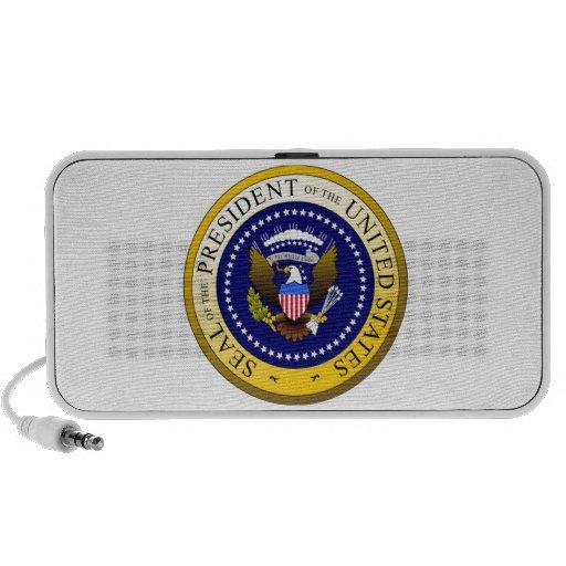 Presidente de los Estados Unidos patriótico del se Notebook Altavoz