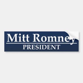 Presidente de Mitt Romney Pegatina De Parachoque