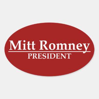 Presidente de Mitt Romney Calcomania De Oval