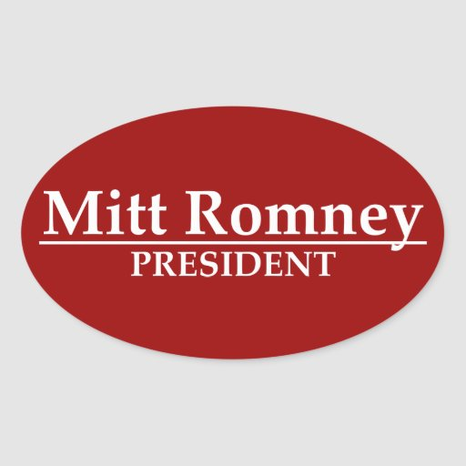 Presidente de Mitt Romney Calcomania De Oval
