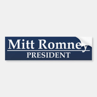 Presidente de Mitt Romney Pegatina Para Auto