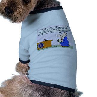 presidente de obama del bienestar de las salidas d camisa de perrito
