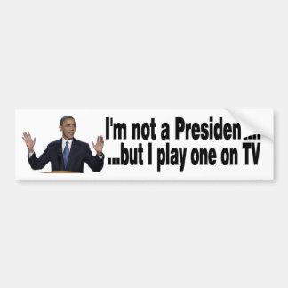 Presidente de Obama TV Pegatina De Parachoque