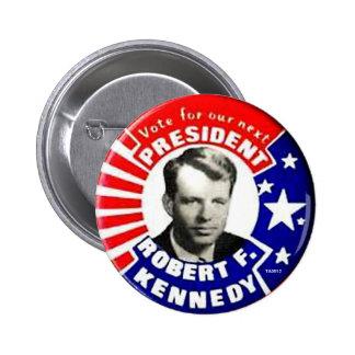 Presidente de RFK - botón Pin Redondo De 2 Pulgadas