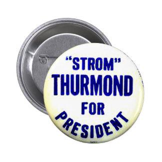 Presidente de Strom - botón Pin Redondo De 2 Pulgadas