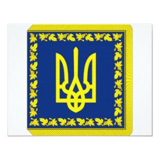 """Presidente de Ucrania en bandera de la tierra Invitación 4.25"""" X 5.5"""""""