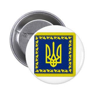 Presidente de Ucrania en bandera de la tierra Pins