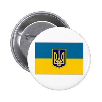 Presidente de Ucrania en la bandera del mar Pins