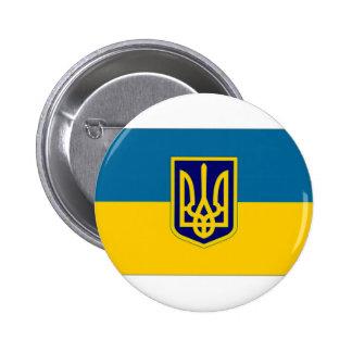 Presidente de Ucrania en la bandera del mar Pin