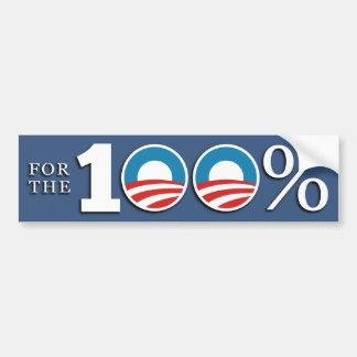 Presidente del 100 por ciento pegatina para auto