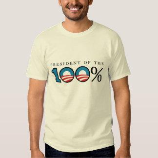 Presidente del 100 por ciento playeras
