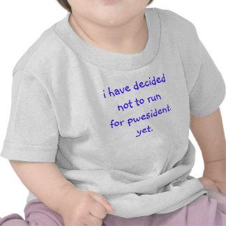 ¿Presidente del bebé? Camisetas