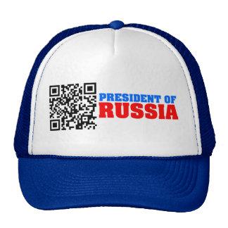 Presidente del código de QR de Rusia Gorras De Camionero