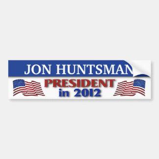 Presidente del Huntsman de Jon en 2012 Pegatina Para Auto
