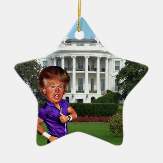 presidente Donald Trump Adorno Navideño De Cerámica En Forma De Estrella