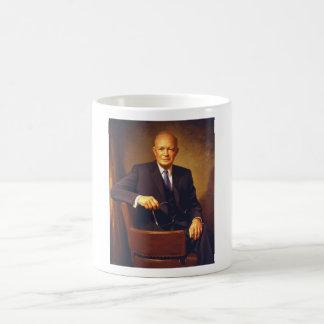 Presidente Eisenhower Painting Tazas De Café