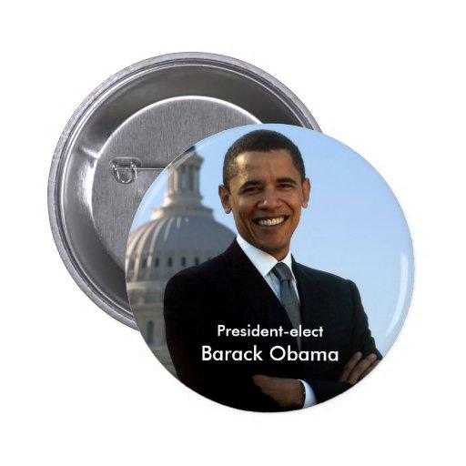 Presidente electo - Barack Obama Buton Pins