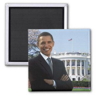 Presidente electo Obama - imán cuadrado