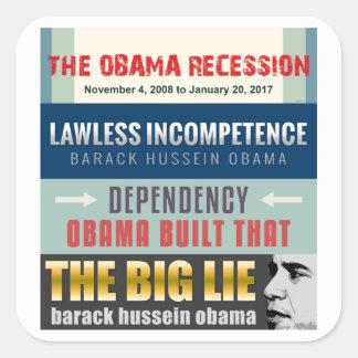 Presidente fallado Obama Colcomanias Cuadradass