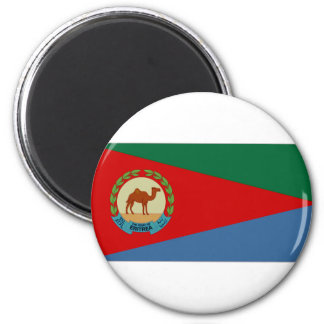 Presidente Flag de Eritrea Imán Redondo 5 Cm