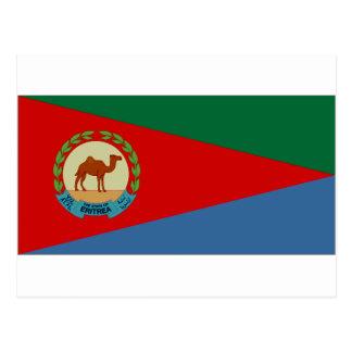 Presidente Flag de Eritrea Tarjetas Postales