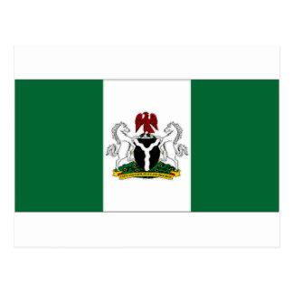Presidente Flag de Nigeria Tarjetas Postales