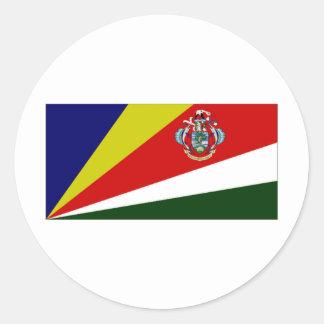 Presidente Flag de Seychelles Pegatina Redonda