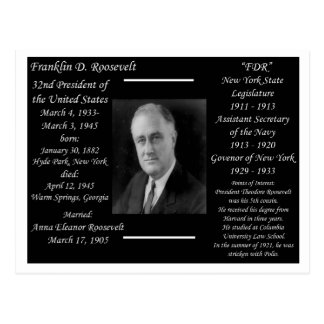 Presidente Franklin D Roosevelt Tarjetas Postales