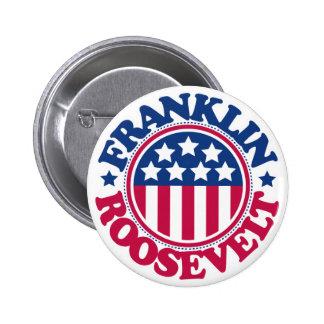 Presidente Franklin Roosevelt de los E.E.U.U. Pin Redondo De 2 Pulgadas