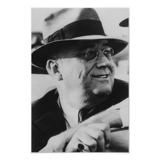 Presidente Franklin Roosevelt Póster