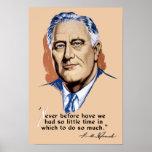 Presidente Franklin Roosevelt y cita -- WWII Impresiones
