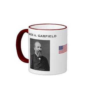 Presidente Garfield* Mug Taza A Dos Colores