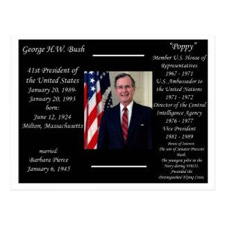 Presidente George HW Bush Postales